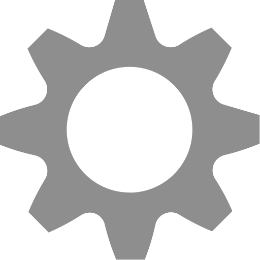 Cog, gear, preferences, settings icon.
