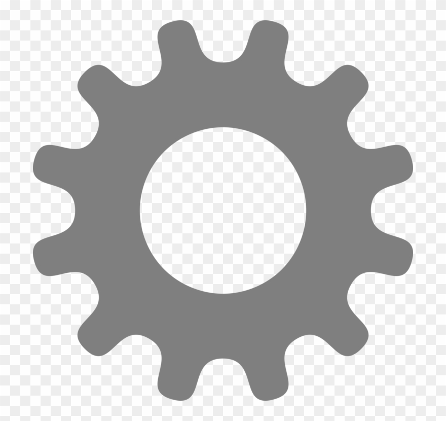 Gear Computer Icons Drawing Silhouette Art.