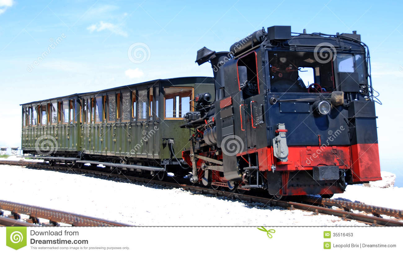 Steamtrain Of A Cog Railway Stock Photos.
