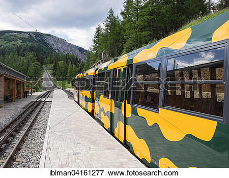 Picture of Schneebergbahn, Salamander Train, cog railway at the.
