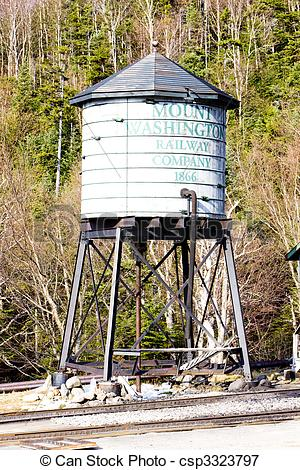 Picture of water tank, Mount Washington Cog Railway, Bretton Woods.
