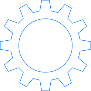 Blue Cogwheel Clip Art at Clker.com.