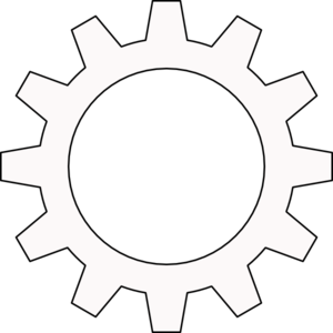 Cog Cogwheel Outline Clip Art at Clker.com.