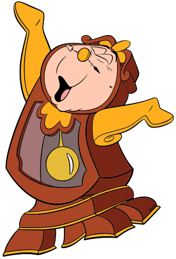 Lumiere and Cogsworth Clip Art.