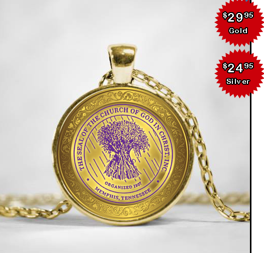 COGIC Seal Necklace.