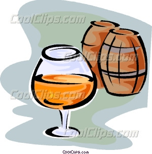 snifter of cognac Vector Clip art.