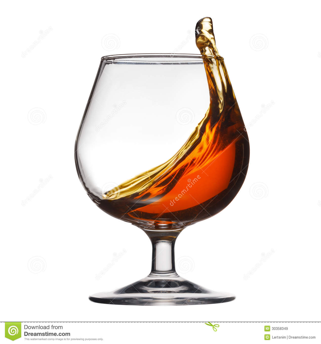 Glass Of Cognac. Royalty Free Stock Photo.