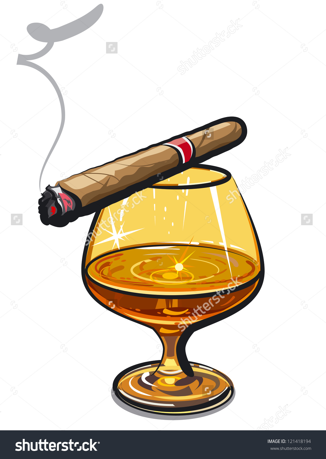Cognac Cigar Stock Vector 121418194.