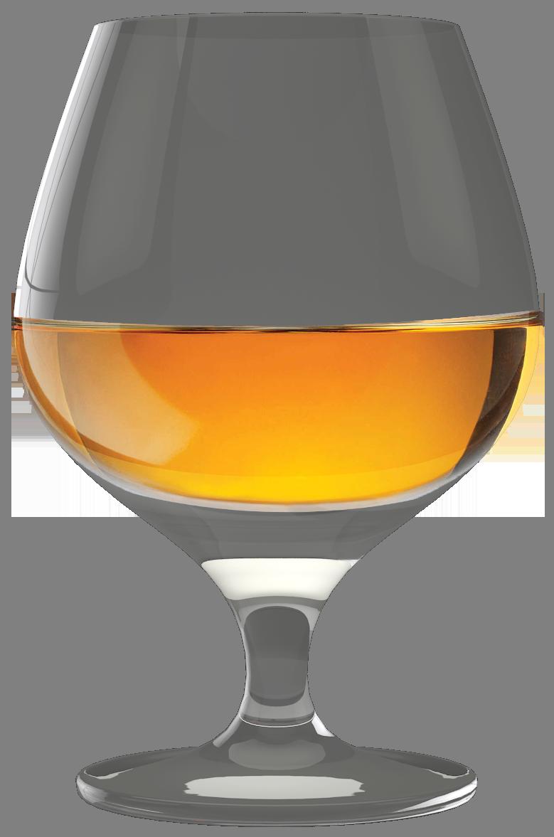 Cognac Glass PNG Clip Art.