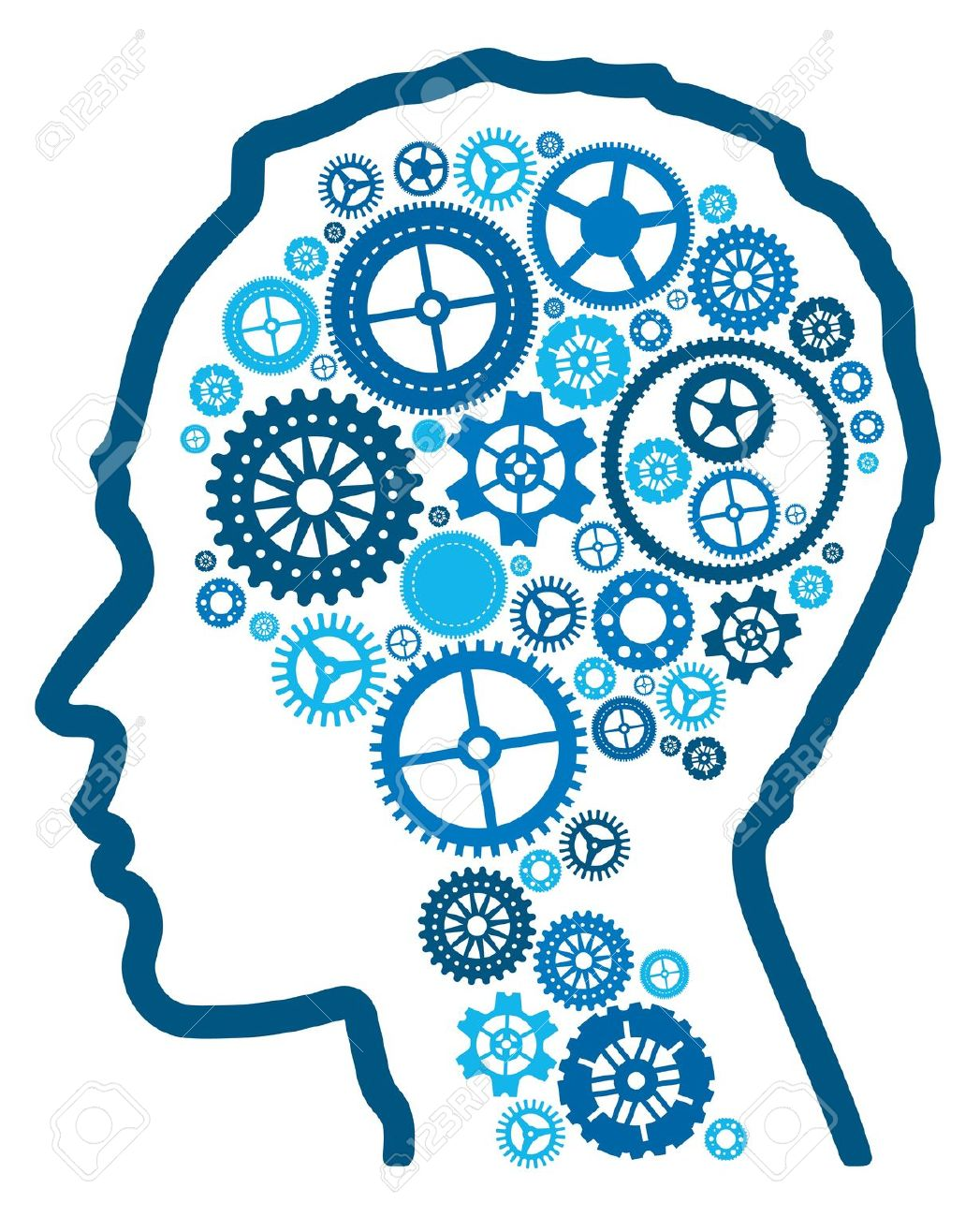 Cognitive Psychology Clipart.