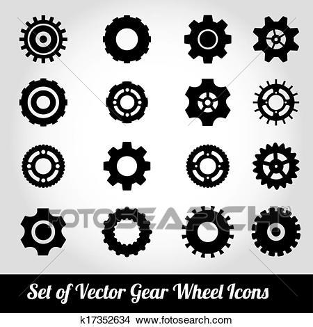 Cogs / gears vector Clipart.