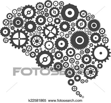 Brain Cogs And Gears Clipart.