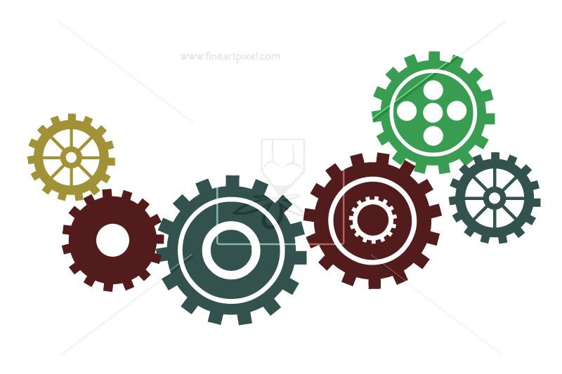 Industrial Cogs Gears.