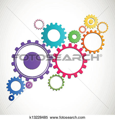 Clipart of Vector Cog Wheels k13228485.