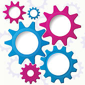 Cog Wheels Clip Art.