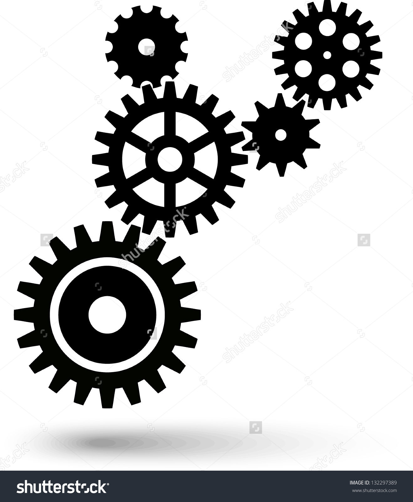 Cogwheel Chain Teamwork Gear Stock Vector 132297389.