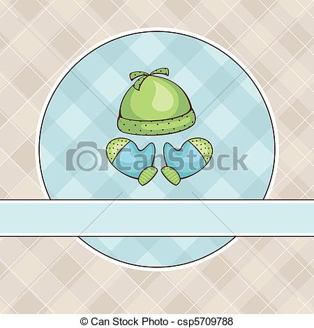 Vector of illustration with coif and mittens.
