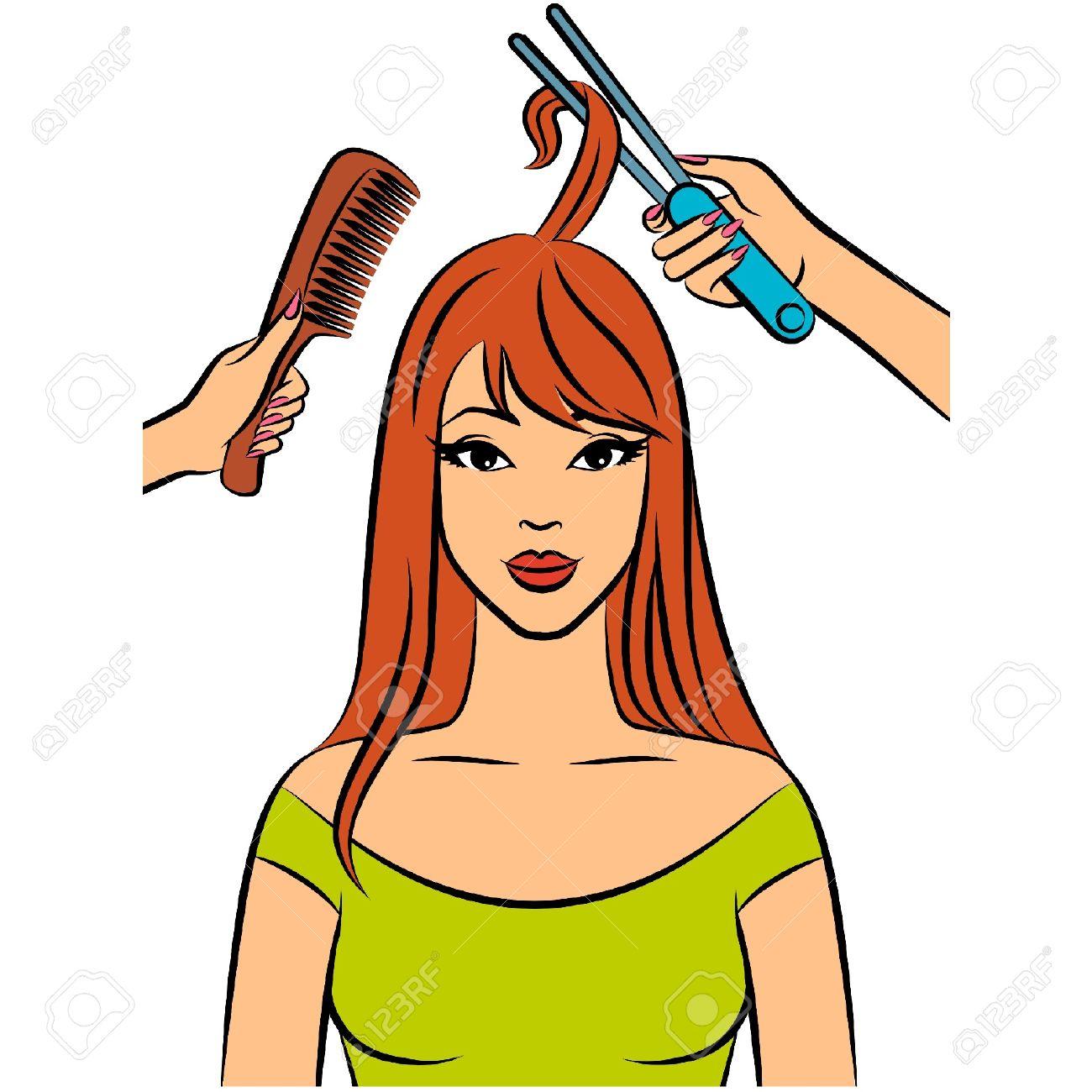 Beautician tools clipart.