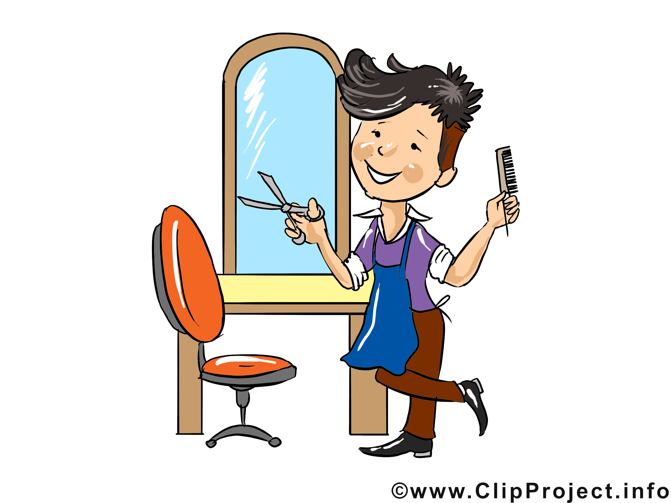 Coiffeur clipart clipground - Dessin coiffeuse ...