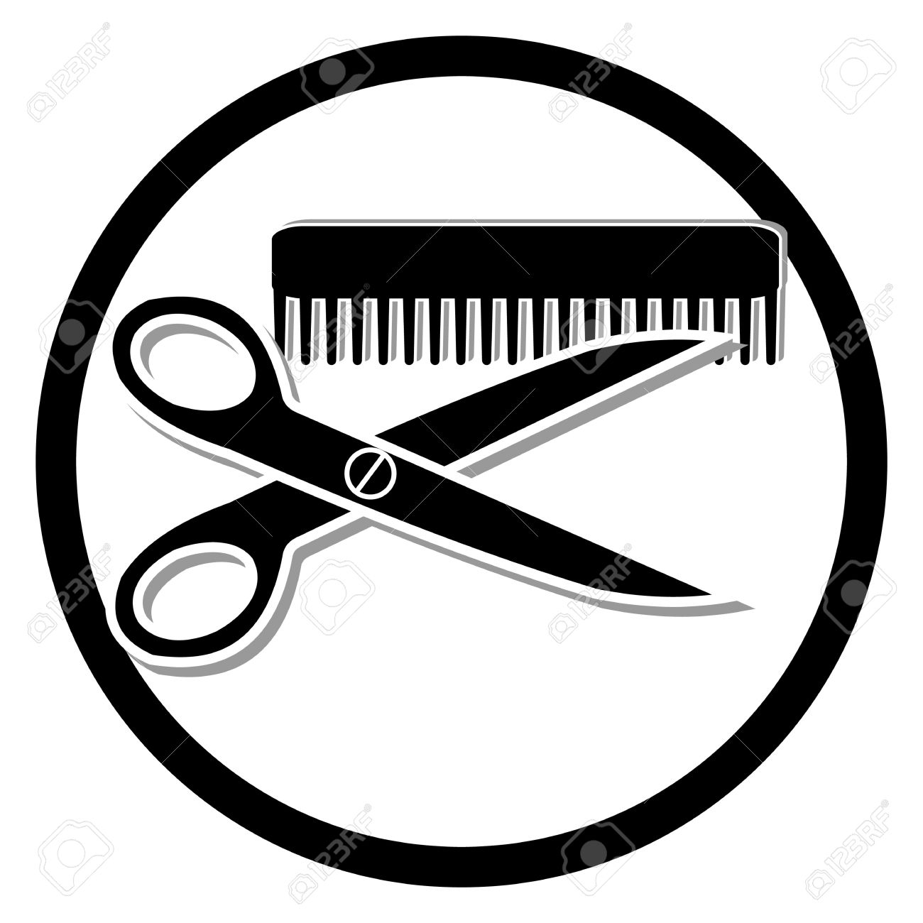 Hair Cutting Clip Art.