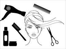 Hairdressing Stock Illustrations.