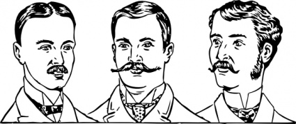 Hair Men Automatic Circa Mens Styles 1900 Hairstyles Clipart.