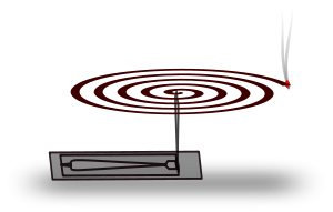 Mosquito coil clipart.