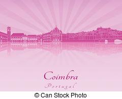 Coimbra skyline Vector Clip Art Illustrations. 6 Coimbra skyline.