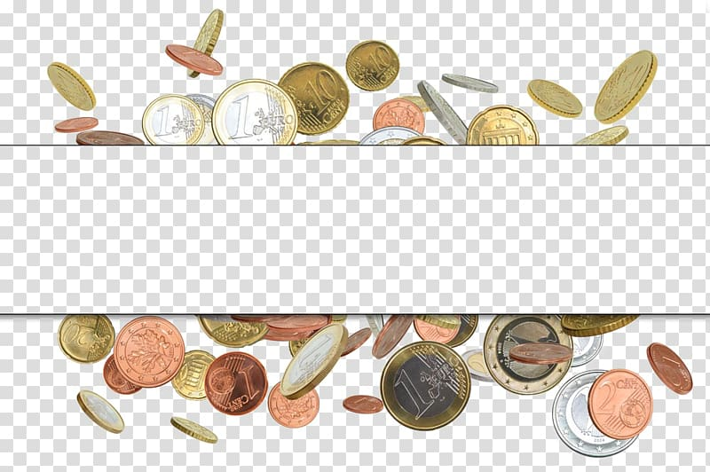 Gold coin Money Finance, Coin Border transparent background.
