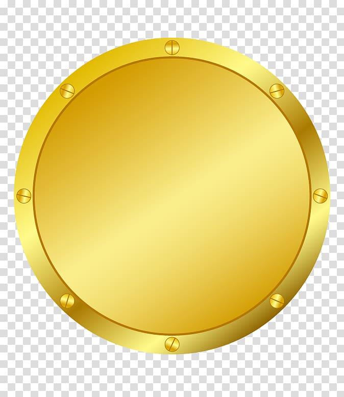 Round gold.