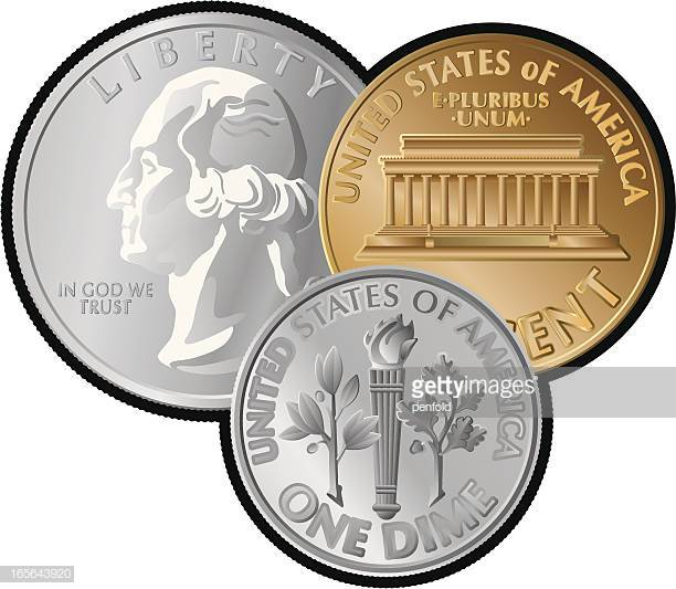 60 Top Us Coin Stock Illustrations, Clip art, Cartoons, & Icons.