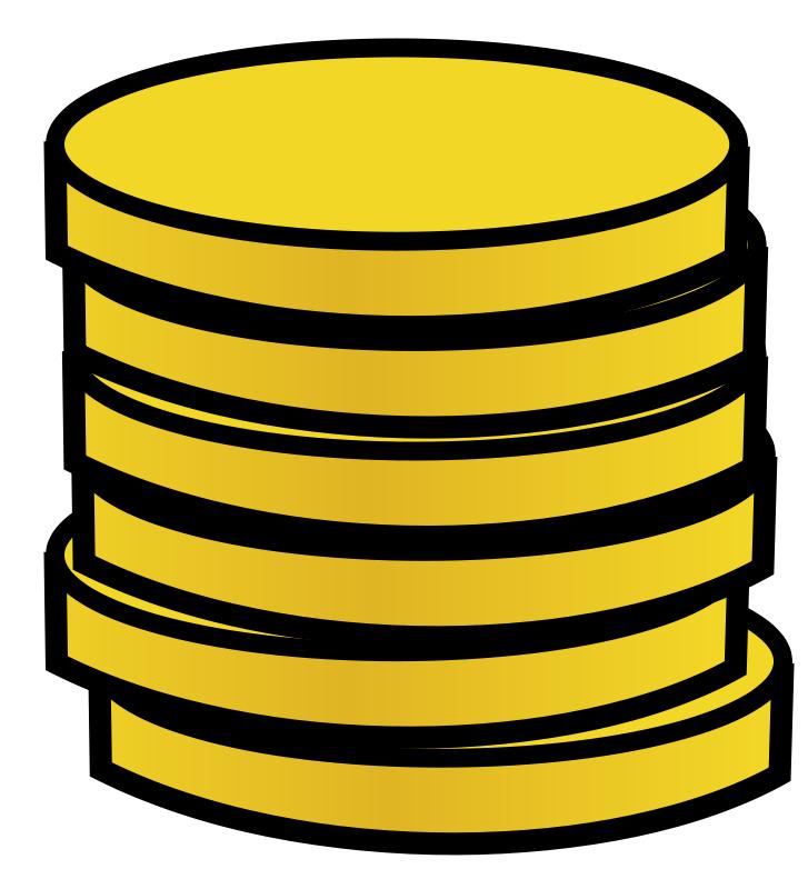Money coins clip art dividers.