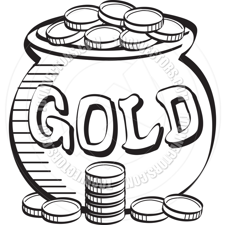 Coins Clipart Black And White.