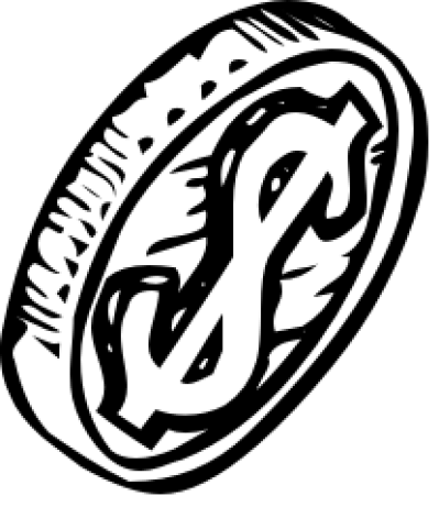 Coin Clipart Black And White PNG.