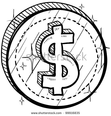 Coin clipart black and white 3 » Clipart Station.