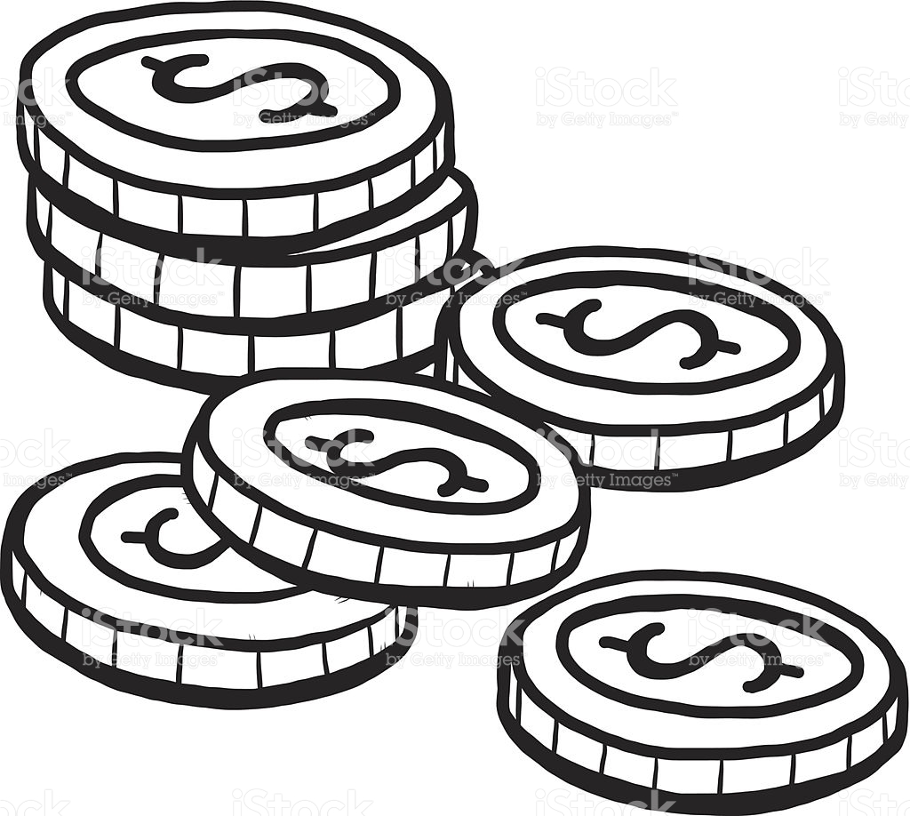 Coin clipart black and white 4 » Clipart Station.