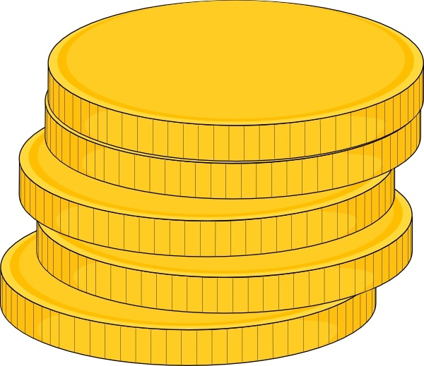 Money Stack Of Coins clip art Free vector in Open office.