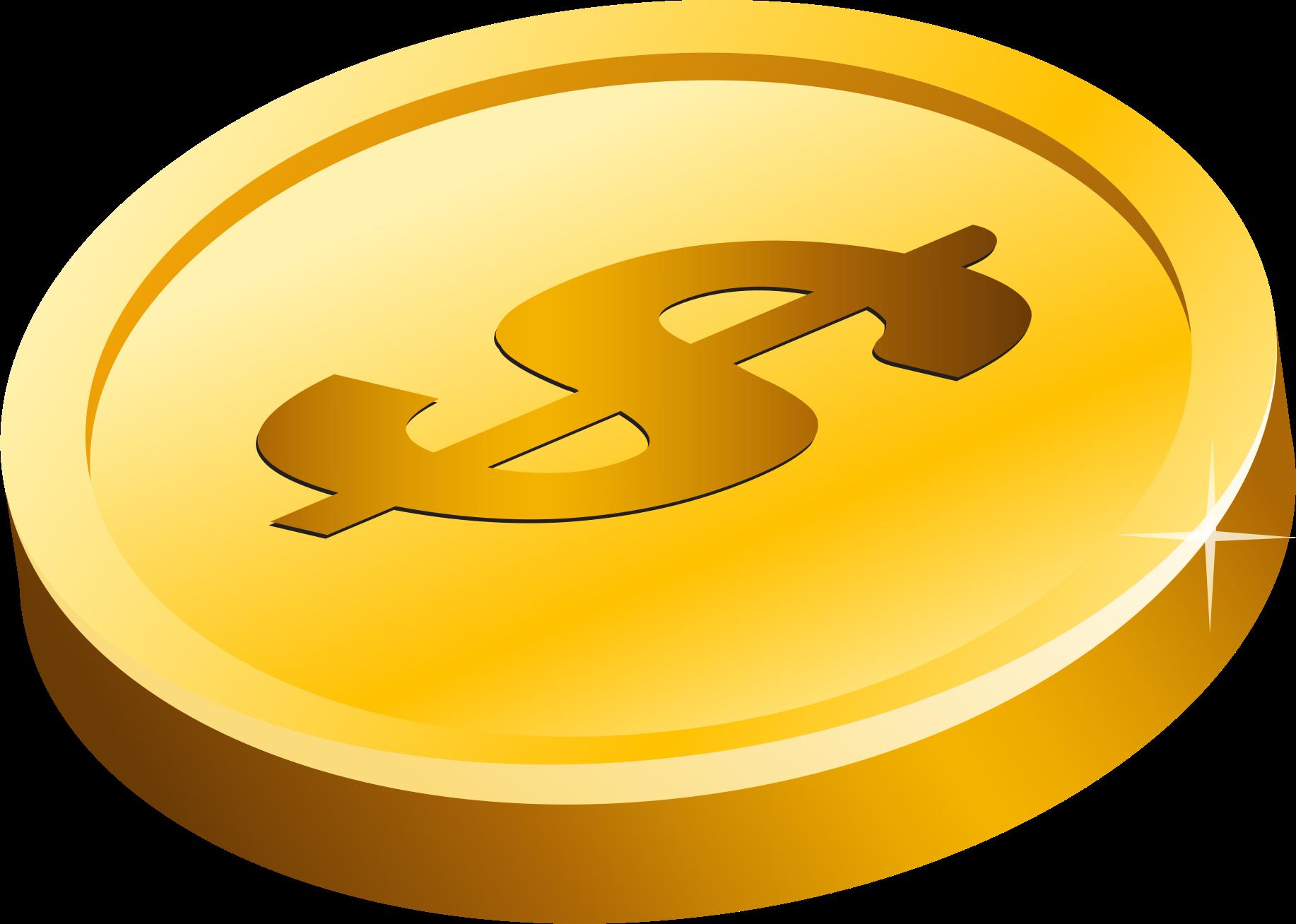 Coins clipart clip art gold, Coins clip art gold Transparent.
