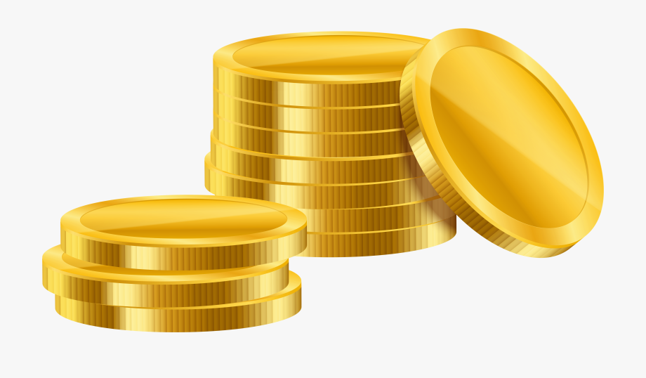 Gold Simple Coins Png Clipart.
