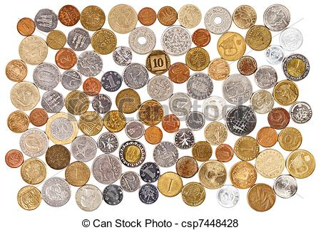 Coin collector clipart.