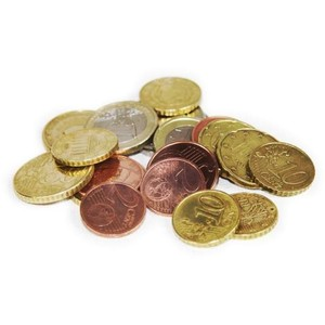 Euro Notes Euro Coins Clipart.