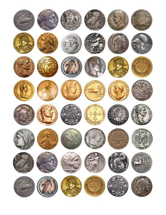 ancient antique coins coin clip art digital by DigitalGraphicsShop.