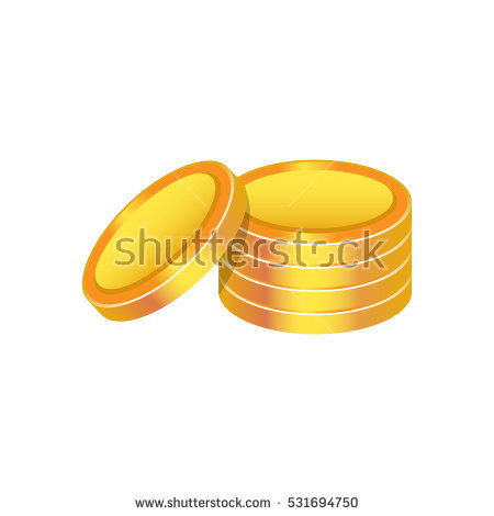 Cartoon Gold Coins Clipart Vector Illustration Stock Vector.