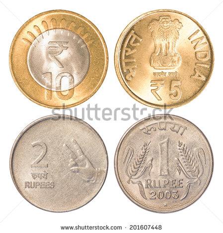 Indian Coin Stock Photos, Royalty.