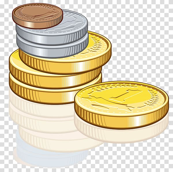 Gold coin Icon , Coins transparent background PNG clipart.