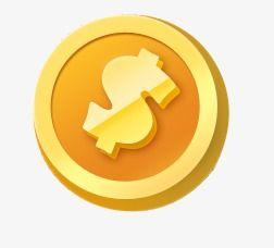 Cartoon Gold Coin, Cartoon Clipart, Coin Clipart, Cartoon.