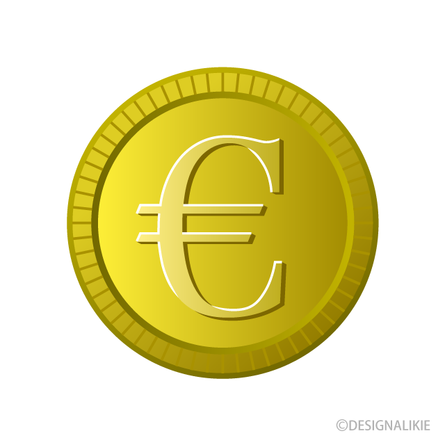 Free Euro Gold Coin Clipart Image|Illustoon.