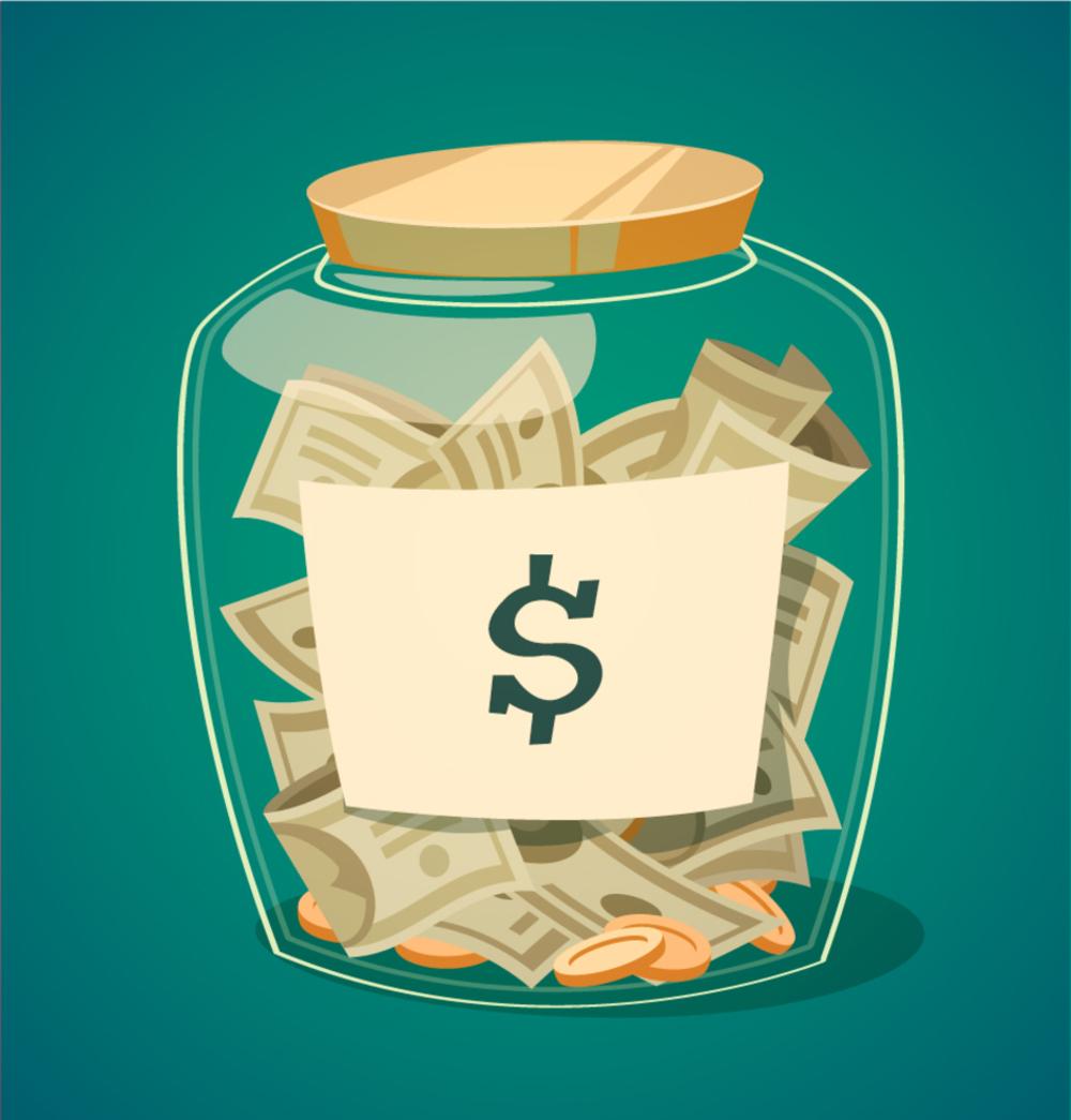 Money Jar Clipart.