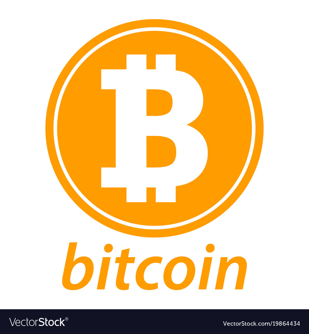 Bitcoin icon coin logo crypto currency symbol.