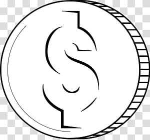 Dollar Sign Outline transparent background PNG cliparts free.